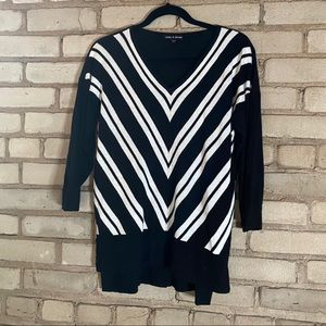Cable and Gauge Striped Sweater